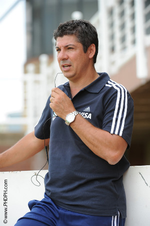 Argentina coach Pablo Lombi prepares for London