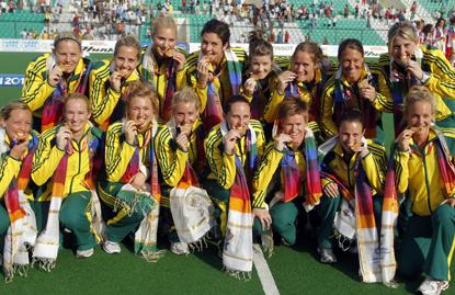 Australia women at last year's Commonwealth Games.