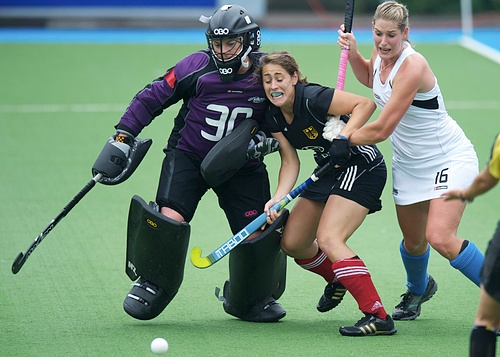 Germany overcame a strong challenge from the Black Sticks