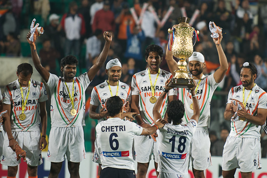 India celebrate qualification for the 2012 Olympic Games