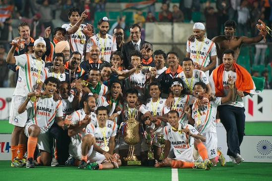 India celebrates its berth to the 2012 Games after missing out on the 2008 Olympics.