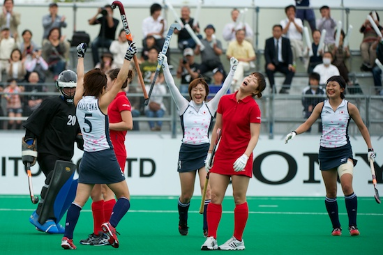 Azerbaijan vs. Japan Day 4 action at the Women's Olympic Qualification Tournament