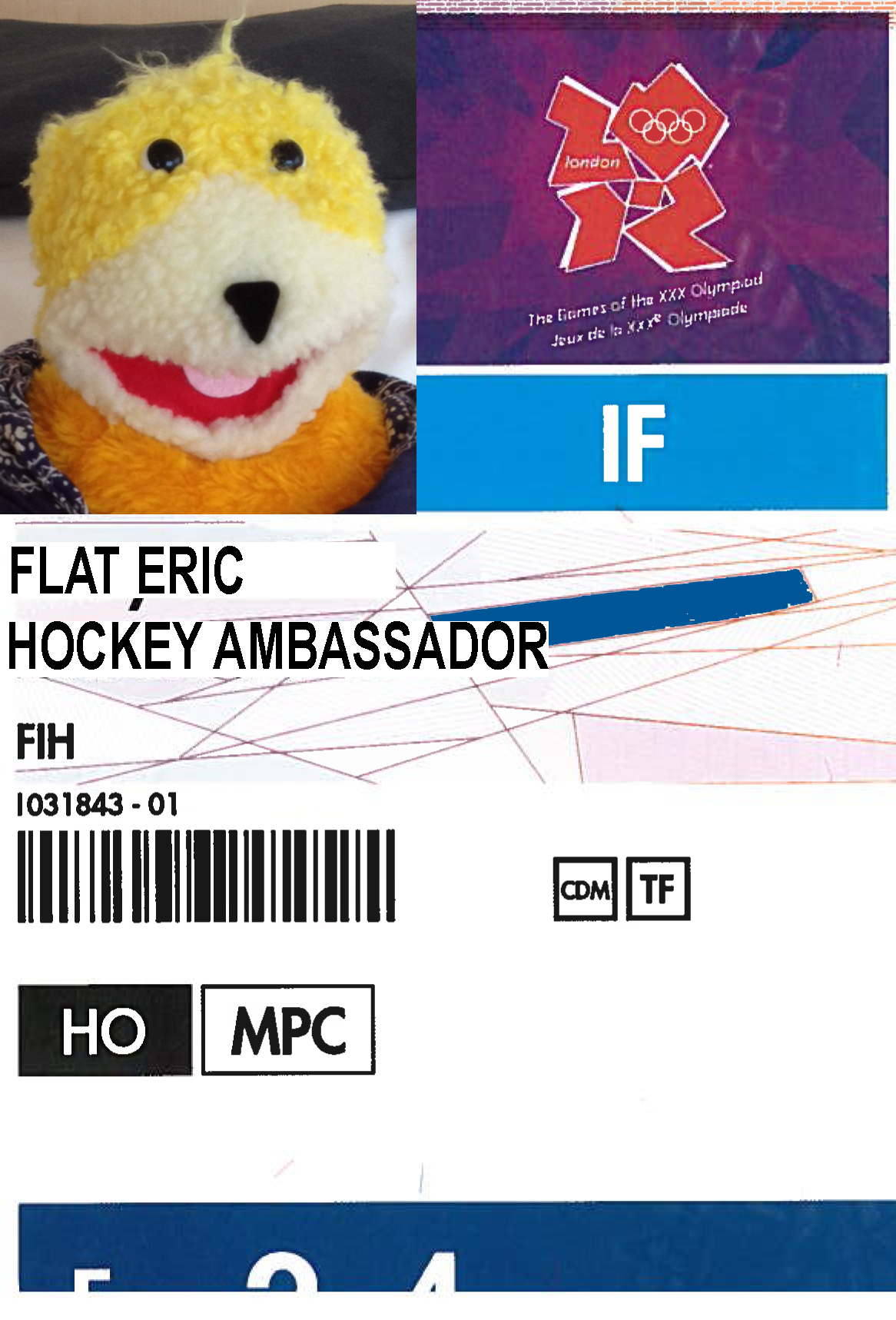 Flat Eric is ready to share London with the world!