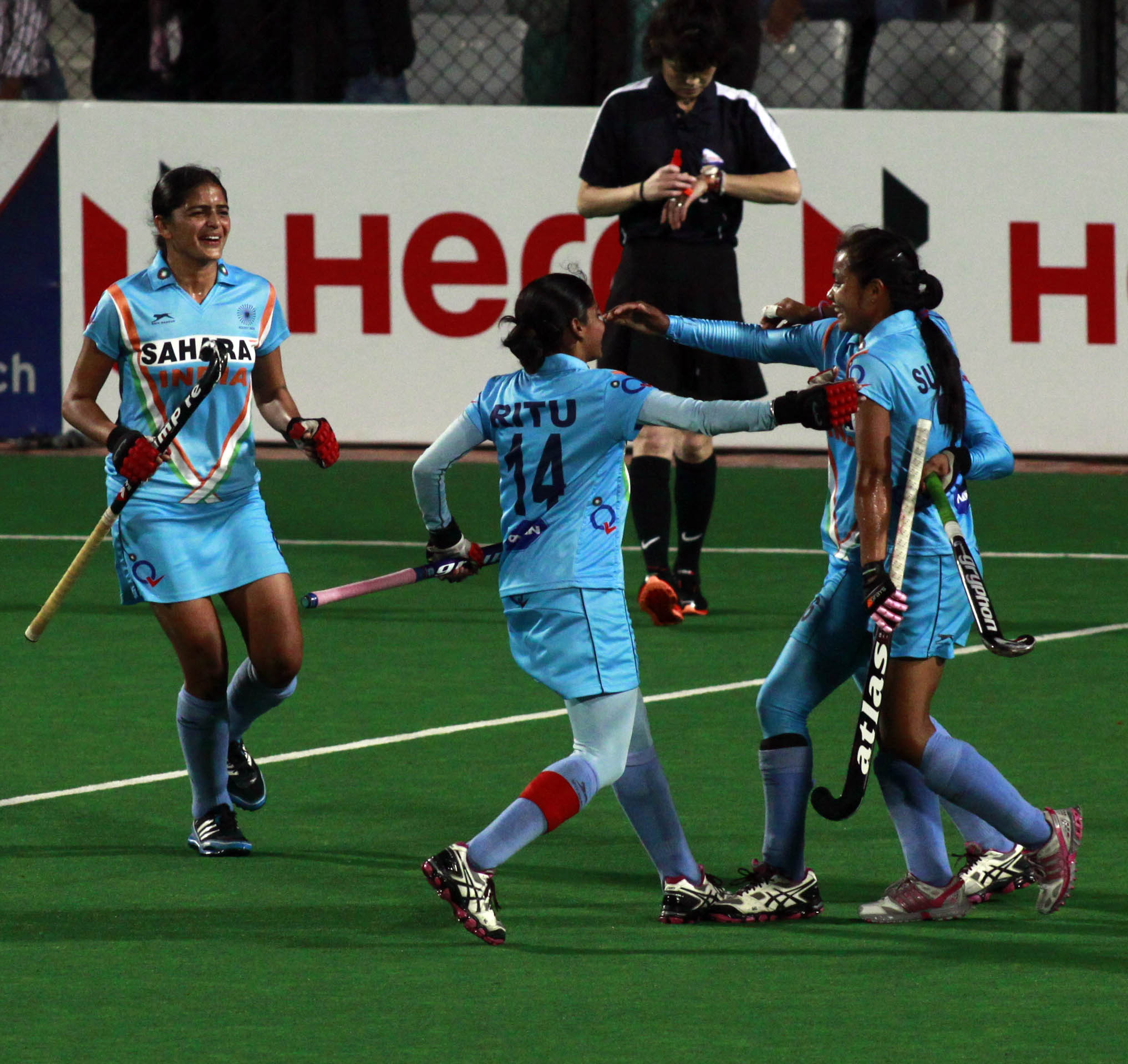 - Hero Hockey World League 2013 Indian team after won the match 2