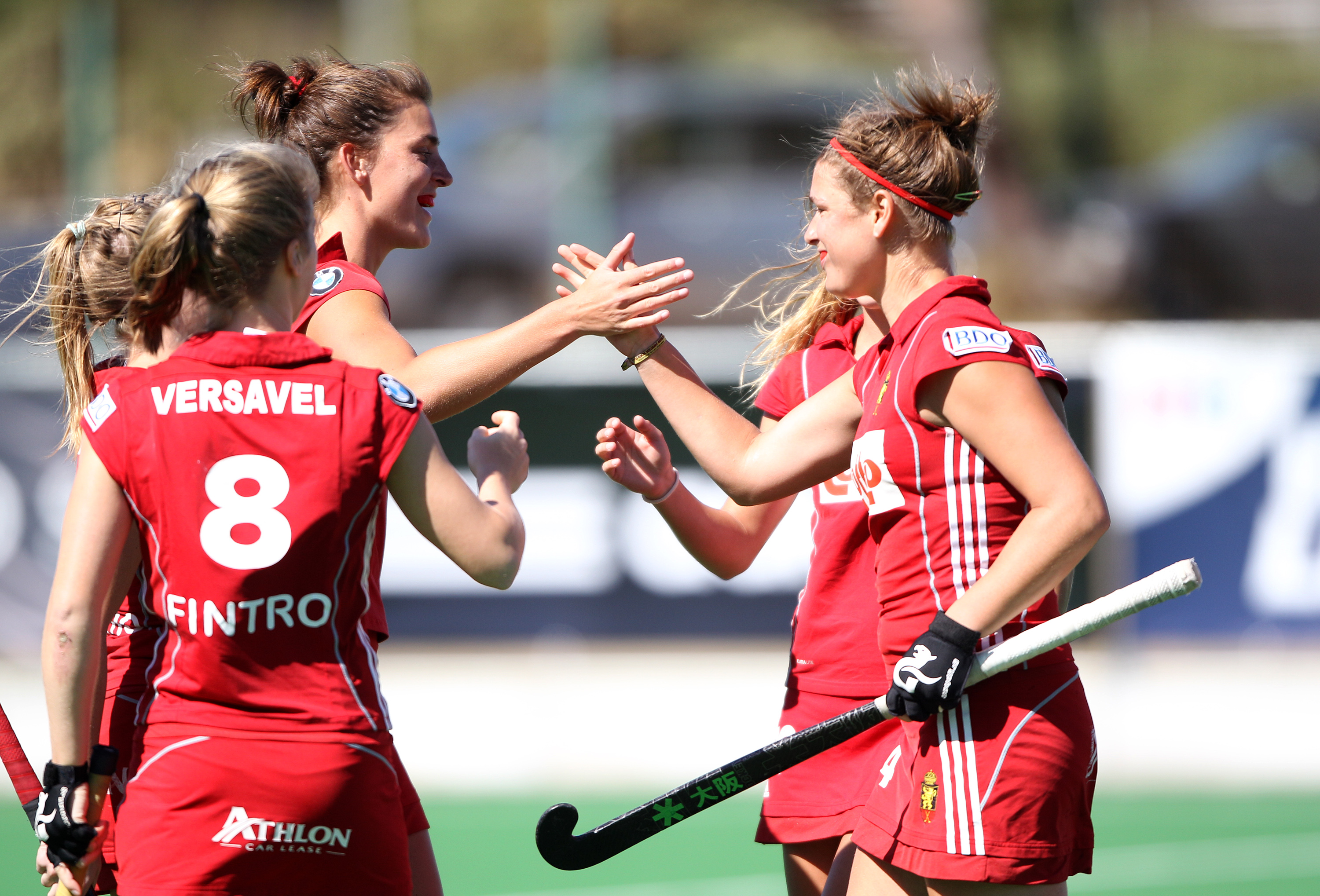 Belgium celebrates its berth in to the Hockey World League Semi-Finals