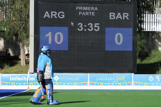 Las Leonas were 10-0 up at half time against Barbabos