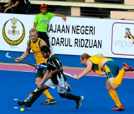 Action from Australia's 6-0 victory over Pakistan in the 22nd Sultan Azlan Shah Cup in Ipoh, Malaysia on Sunday.