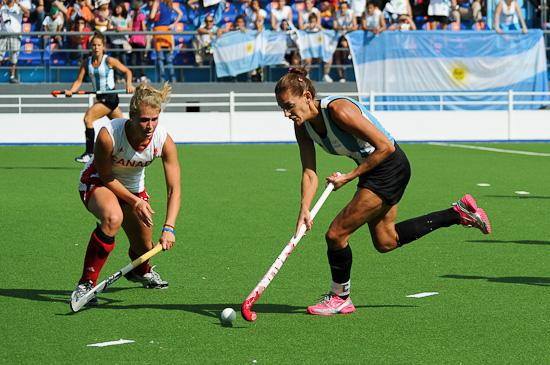 Luciana Aymar scored twice in Argentina's 7-3 win over Canada