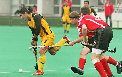 Chua Boon Huat in action for Malaysia at the 2008 Olympic Qualifier in Kakamigahara, Japan.
