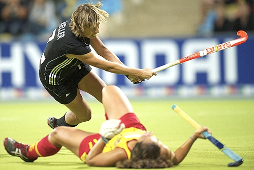 Evergreen Natascha Keller scored the winning goal for Germany