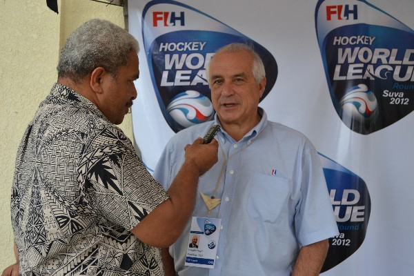 FIH President Leandro Negre was in attendance at the World League Round 1 competition in Suva, Fiji