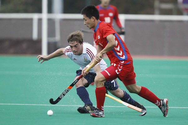 France against Korea on day 3 of the INSEP Hockey Challenge