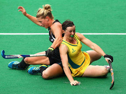 The Hockeyroos & the Black Sticks could not be separated.