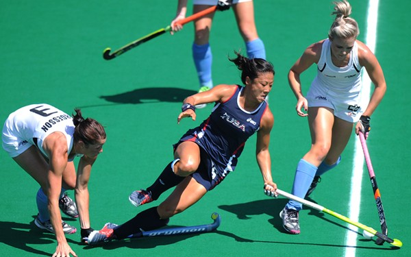 Kayla Bashore-Smedley in action against New Zealand.