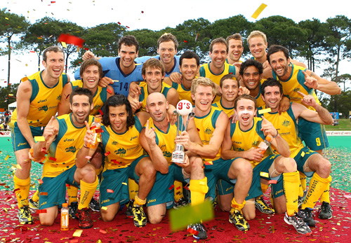 Australia Men, winners of the 2011 Lanco International Super Series