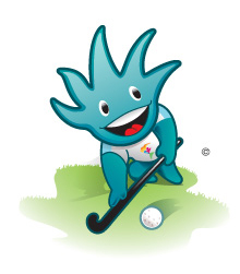 The 2011 Pan Am Games hockey mascot.