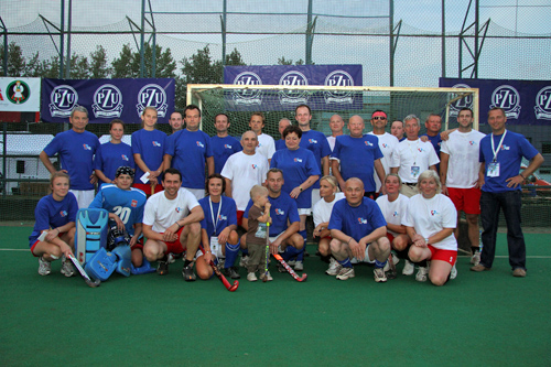 The participants of the Prada-Willi Syndrome exhibition match.