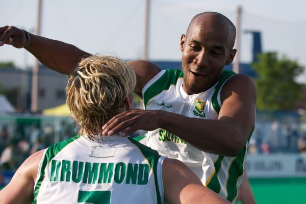 Tim Drummond set up Julian Hykes for goal number 1 in Rio on Monday.