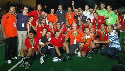 Sharkia HC, winners of the 2011 African Cup for Club Champions.