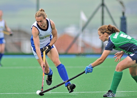 Laura Bartlett in action for Scotland.