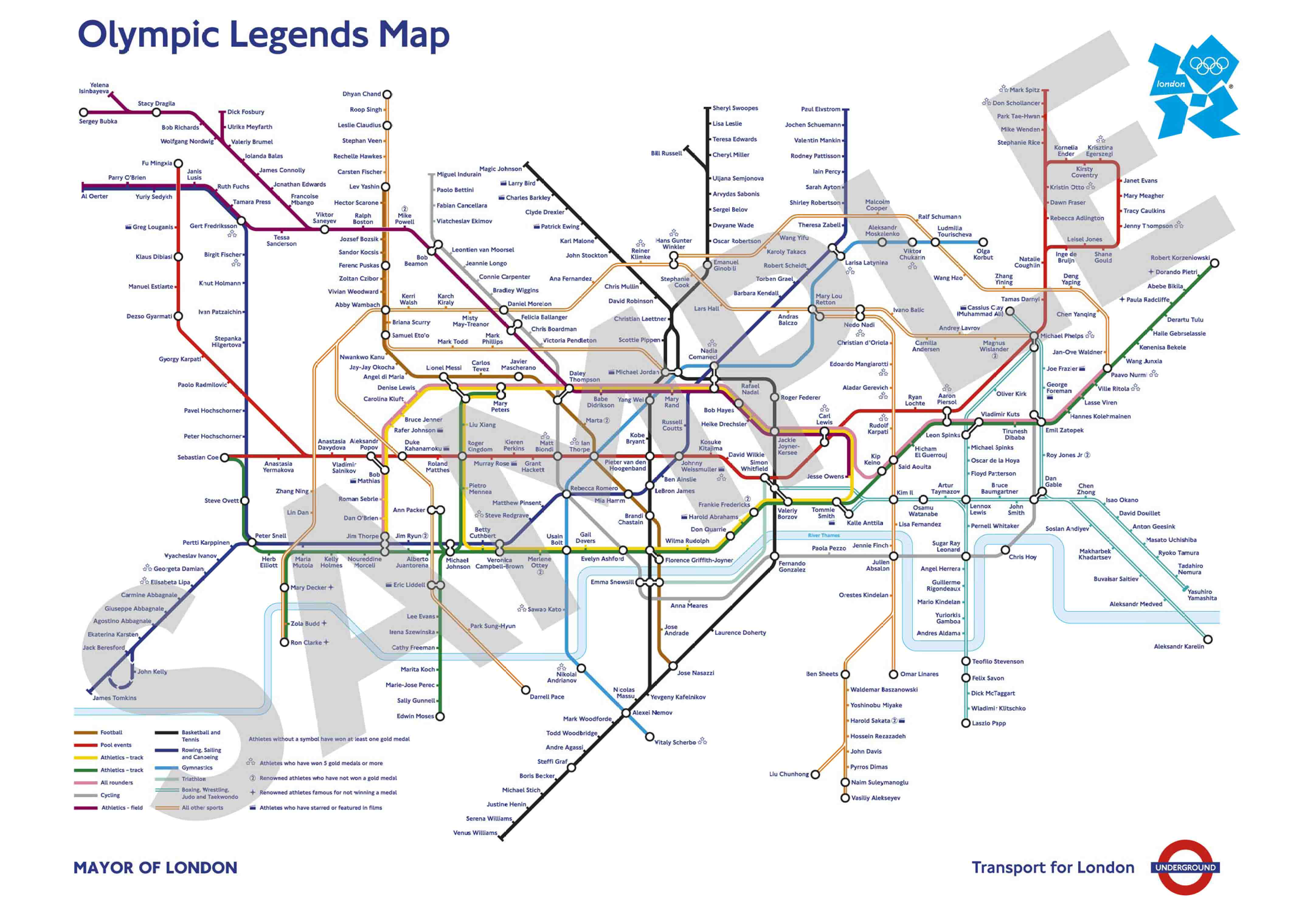 A thumbnail of the new London Tube station map