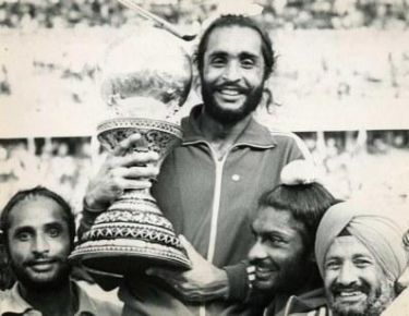 Ajitpal Singh with the World Cup in 1975